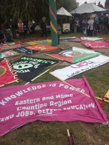 Not one but two UCU banners this year
