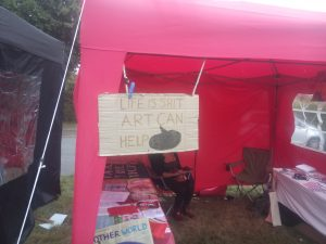 Words of Wisdom from our co-stall holders Rebel Arts from Cambridge
